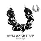 蘋果髮圈錶帶 Apple Watch 38/40/42/44mm 手錶替換錶帶 大腸圈彈力拉伸 造型款錶帶 碎花系列