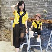寶寶親子裝2018新款夏裝短袖T恤一家三口裝母子裝上衣全家庭裝潮 熊貓本