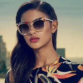 FENDI 墨鏡 FF0179FS (透明花紋) 貓眼 大框 太陽眼鏡 久必大眼鏡