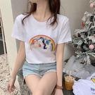 【免運】純棉短袖t恤男女學生新品夏季新款白色寬鬆百搭打底衫情侶體上衣