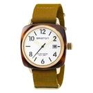 BRISTON CLUBMASTER 經典方糖腕錶-金框X芥末黃