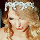 髮帶鑲鑽-歐美新款熱銷蝴蝶結生日聖誕節禮物女頭飾73ex20[時尚巴黎]