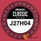 【缺貨】Daddario J27H04 單弦第四弦 高張力古典吉他弦 單一弦 【第4弦/D弦】