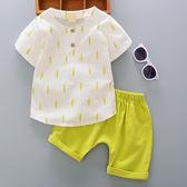 童裝男女童夏裝新款0-1-2-3-4歲6*9個月寶寶短袖套裝嬰兒夏天衣服 小巨蛋之家
