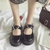 日系秋季學院風可愛圓頭娃娃鞋愛心原宿風軟妹chic小皮鞋淺口單鞋 潮流前線