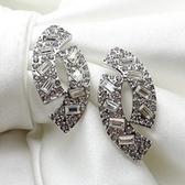 耳環 玫瑰金 925純銀鑲鑽-時尚百搭情人節生日禮物女飾品2色73gs49【時尚巴黎】