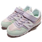 New Balance 慢跑鞋 996 NB 紫 綠 粉色 麂皮 魔鬼氈 中童鞋 女鞋【PUMP306】 KV996P1YW