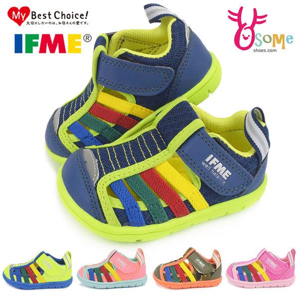 IFME小童機能鞋 專利矯型速乾鞋墊 二部曲 透氣運動鞋M7606#藍色◆OSOME奧森鞋業
