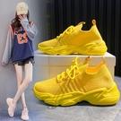 椰子鞋 運動鞋女2021春季新款飛織網面椰子健身跑步鞋百搭韓版軟底休閒鞋