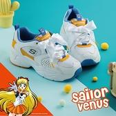 Skechers 休閒鞋 D Lites AIRY 2.0 X Sailor Moon 白 黃 女鞋 美少女戰士 運動鞋 老爹鞋 【ACS】 66666267WBLY