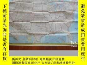 二手書博民逛書店罕見外國地圖1968年《美國THE UNITED STATES》