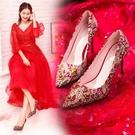 秀禾鞋婚鞋女新款中式紅色結婚鞋子