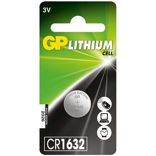 GP 超霸 鈕型鋰電池 CR1632 3V 1入