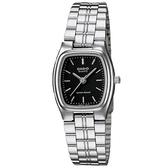 CASIO 秀麗婉約酒桶型不鏽鋼指針腕錶-羅馬黑面(LTP-1169D-1A)