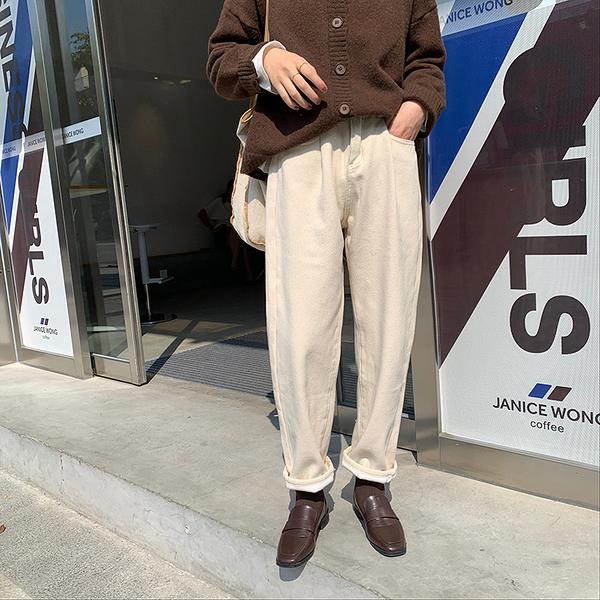 F7830# 老爹褲寬鬆高腰直筒褲冬季韓版加厚休閒褲女裝 &小咪的店&
