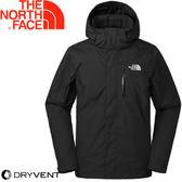 【The North Face 男款 DryVent 防水外套ZIP《黑》】3665KX7/衝鋒衣/防水/保暖/外套★滿額送