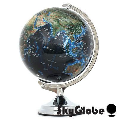 【SkyGlobe】12吋地形海溝人口分佈地球儀(英文版)(附燈)-大件商品請選宅配運送