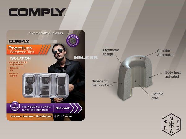 Comply T500 T-500 耳道海棉 (1盒3對) UE M-AUDIO MONSTER [My Ear 台中耳機專賣店]