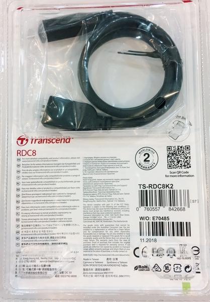 創見 Transcend RDC8K Type-C 智慧讀卡機 USB3.1 黑色【TS-RDC8 】