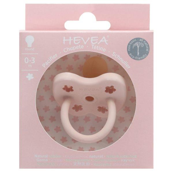 【愛吾兒】丹麥 HEVEA 彩色櫻桃型奶嘴-寶貝粉 0-3個月適用