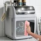 放碗筷收納盒帶蓋廚房家用碗碟餐具瀝水架特大號密封裝碗櫃收納箱MBS「時尚彩紅屋」