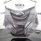 促銷 透明性感內褲女士蕾絲 誘惑網紗包臀中腰無痕三角褲女夏大碼胖MM