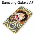 海賊王側翻支架皮套 [R02] Samsung Galaxy A7 航海王 魯夫【台灣正版授權】