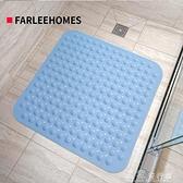 防滑墊方形淋浴防滑墊浴室洗澡腳墊衛生間地墊家用吸盤按摩防滑大號獨家流行館YJT
