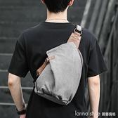 斜背包男休閒個性跨單肩包大容量簡約背包潮帆布多功能復古小胸包 Lanna