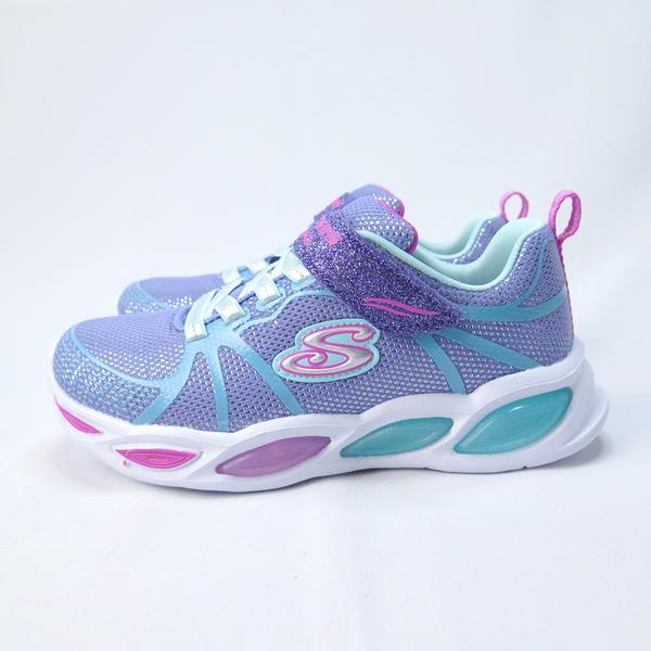 Skechers SHIMMER BEAMS 中童鞋 魔鬼氈 發光 302042LPWMT 紫【iSport愛運動】
