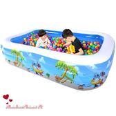 兒童游泳池嬰兒家用充氣加厚寶寶洗澡盆成人家庭超大號戲水池  全店88折特惠