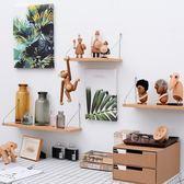 好康推薦墻上置物架免打孔臥室裝飾墻壁掛現代簡約一字隔板鐵藝書架儲物架