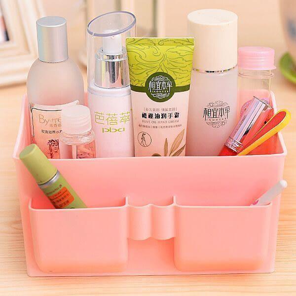Qmishop 多格化妝品收納盒 辦公桌面雜物整理收納桌面儲物盒 塑膠整理盒 【QJ1634】
