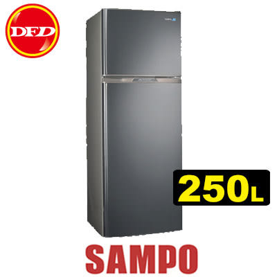 SAMPO 聲寶 SR-A25D(S2) 變頻冰箱系列 250L 負離子抗菌 雙脫臭 公司貨 SRA25D ※運費另計(需加購)