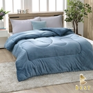 【Best寢飾】雙面激厚法蘭絨暖暖被 青灰藍 台灣製 150x200cm 重2.3kg 毯被 毯子 被子 棉被 法萊絨