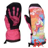 【 EX2 】滑雪連指手套『紅』868041 休閒.戶外.保暖.保暖手套.絨毛手套.刷毛手套