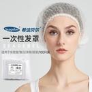 防塵帽 一次性條形網帽美容透氣衛生廚師帽女廚房防掉發防塵頭罩食品頭套 星河光年