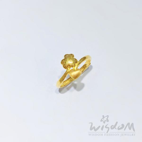 威世登 進口黃金流線型戒 金重約0.77~0.79錢 GA01214-1-IEX-FIX