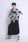 港味薄版夏威夷沙灘復古時尚寬鬆花襯衫/設計家