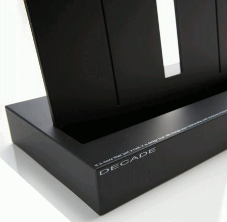 Carl DECADE系列 高級A4黑色看書架(DE-550)