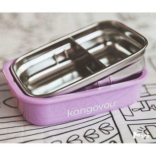 Kangovou 小袋鼠不鏽鋼分隔安全餐盒(小-560ml)3色可選|便當盒【總代理公司貨】