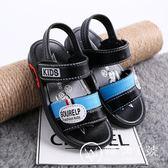 新款兒童涼鞋夏季中童小童嬰兒沙灘鞋軟塑膠防水防滑男童PU皮涼鞋
