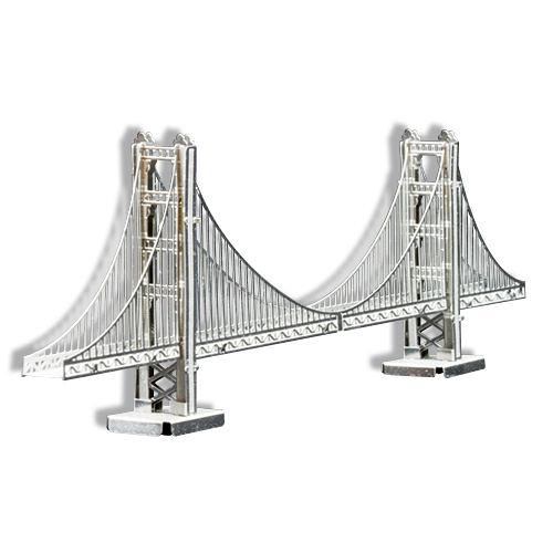 METALLIC NANO PUZZLE 金屬微型模型拼圖 01 美國金門大橋_NO21901
