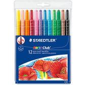 施德樓 MS221 快樂學園旋轉蠟筆12色組