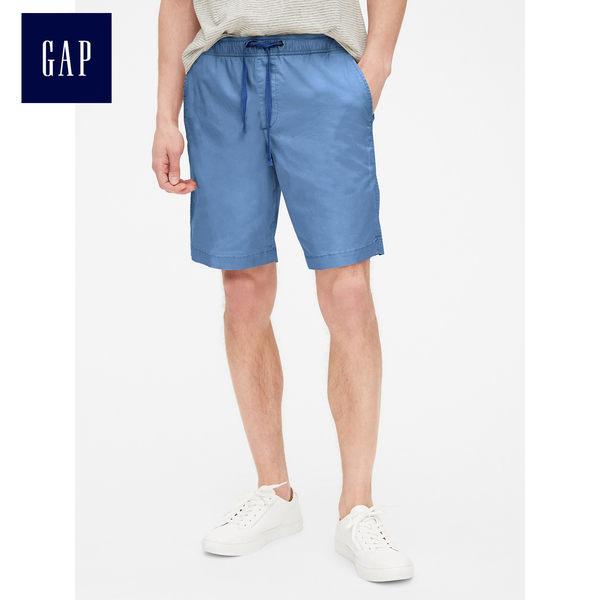 Gap男裝 寬鬆抽繩鬆緊腰彈力短褲 440864-鈷藍色