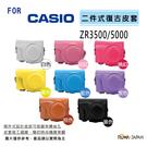 ROWA FOR Casio 卡西歐 ZR3500 / ZR3600 / ZR5000 專用復古皮套