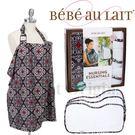 美國Bebe Au Lait 禮盒組-托斯卡尼棕款(哺乳巾+3個拍嗝巾)