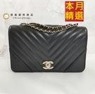【雪曼國際精品】CHANEL 香奈兒 CC FLAP BAG BLACK (黑A91587-BLACK)~全新品特價