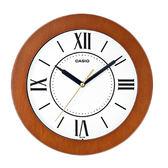 CASIO 卡西歐 掛鐘專賣店 IQ-126-5B 簡約指針掛鐘 木質鐘框 羅馬數字