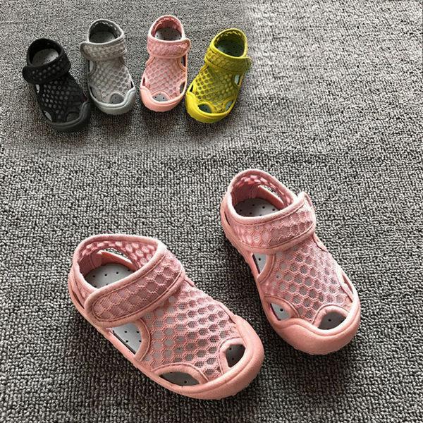 透氣網布兒童涼鞋 膠底涼鞋 涼鞋 兒童 小童 男童 女童 沙灘鞋 橘魔法 鞋內12.5CM~19.5CM 溯溪 玩水